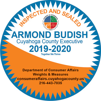 Inspected and Sealed - Armond Budish Cuyahoga County Executive 2019-2020