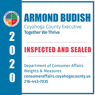 Cuyahoga County Weights and Measures seal