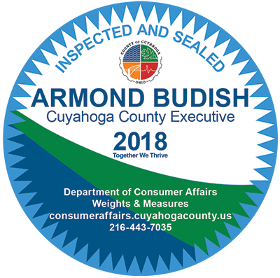 Inspected and Sealed - Armond Budish Cuyahoga County Executive 2018-2019