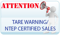TARE Warning/NTEP Certified Scales